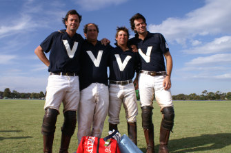 The McLachlan brothers Hamish (far left) and Gillon (far right) played polo growing up.
