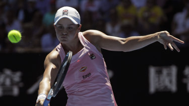 Long drought: Barty is the first Australian to make the final eight at Melbourne Park since Jelena Dokic in 2009.