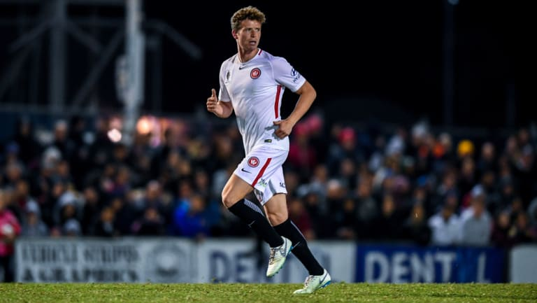 Not a moment too soon: Wanderers defender Patrick Ziegler has been out for two months.