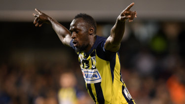 Told you so: two goals in a pre-season friendly was as good as it got for Usain Bolt's A-League dream.