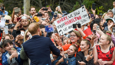 Crowds go crazy for Harry.