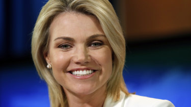 State Department spokeswoman and former Fox News reporter Heather Nauert has been elevated to one of the most important diplomatic posts.