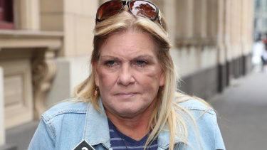 Simon Cartwright's mother, Tracey, outside court on Thursday.