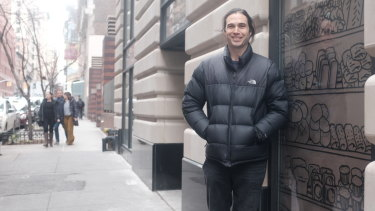 Bourke Street Bakery co-founder Paul Allam outside the bakery's new space in  mid-town Manhattan.