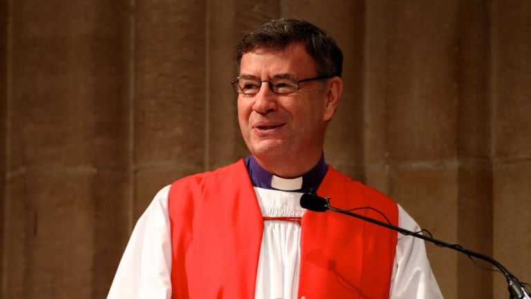 """Anglican Archbishop Dr Glenn Davies. """"We have gay teachers and gay students in our schools now, we are inclusive and open."""""""