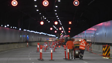The M4 East will open to motorists next month.