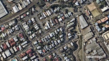 Nearmap images of urban Coorparoo in inner-Brisbane.
