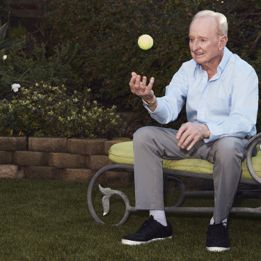 "Rod Laver at home in California. Now 80, he has recovered from a crushing stroke: ""I couldn't talk. I couldn't tell the time. I couldn't do anything,"" he says."