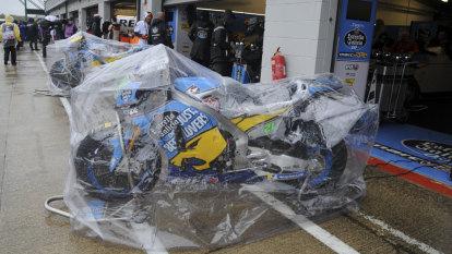 British MotoGP cancelled due to rain