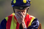 Agony and ecstacy ... James McDonald thought he might have been pipped at the post in The Everest.
