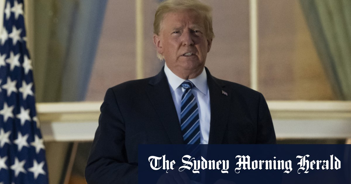 Trump to address crowd from White House balcony on 'law and order' – Sydney Morning Herald