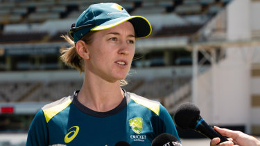 Open to suggestion: Rachael Haynes says she's comfortable at the top of the order.