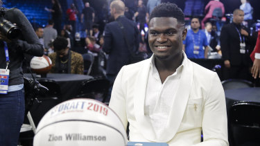 Zion Williamson was pick No.1 at the NBA draft, taken by the Pelicans.