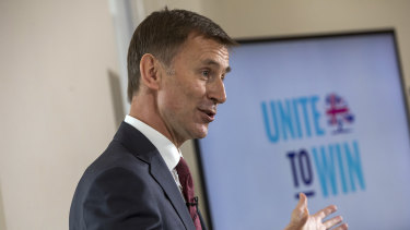 Foreign Secretary and candidate Jeremy Hunt.