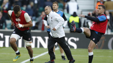Outside the box: Eddie Jones is looking broadly in an attempt to give England any kind of edge.