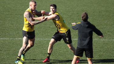 Star Tigers Dustin Martin and Trent Cotchin.