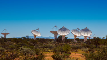 The Australian Square Kilometre Array Pathfinder in the Shire of Murchison in Western Australia.