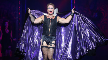 Craig McLachlan playing the role of Frank-N-Furter in The Rocky Horror Show.