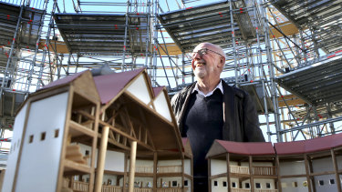 """""""To actually have someone build what you've theorised is amazing"""": Tim Fitzpatrick at the Pop-Up Globe at the Entertainment Quarter in Moore Park."""