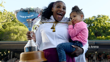 Mother's day: Serena Williams claimed her first WTA title win since the birth of her daughter Alexis.
