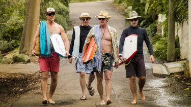 Aaron Jeffrey, Sam Neill, Bryan Brown and Richard E Grant in Palm Beach.
