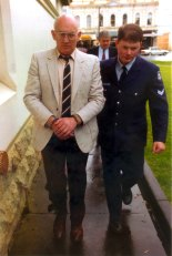 Gerald Ridsdale outside the County Court in Warrnambool in 1994.