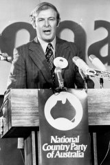 Doug Anthony sought to modernise the Country Party, overseeing the change in its name to the National Country Party.