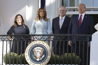 The leaders and their wives met at the White House.