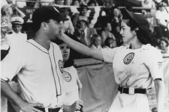 Tom Hanks and Madonna in the film A League Of Their Own.