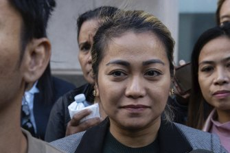 Shiela McAleer (centre) has pleaded guilty to forced labour charges.