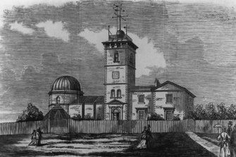 An artist's impression of the Sydney Observatory in about 1870.