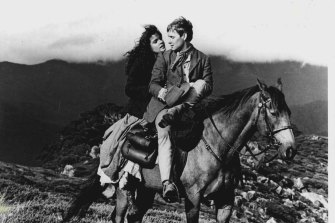Sigrid Thornton and Tom Burlinson in The Man From Snowy River.