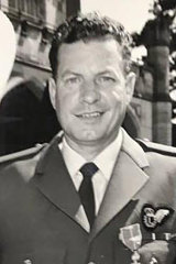 """RAAF veteran Allan """"Ace"""" Conway, whose ashes were scattered at sea during the Anzac Day service at Currumbin on the Gold Coast."""