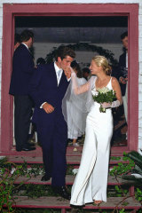 John F. Kennedy Jr., the son of President John F. Kennedy, and Carolyn Bessette on their wedding day in 1996.