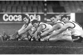 The Daniher brothers in 1990: (from left) Neale, Chris, Anthony and Terry.