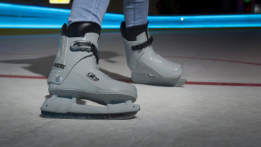 No more laces: the Glice skating boots.
