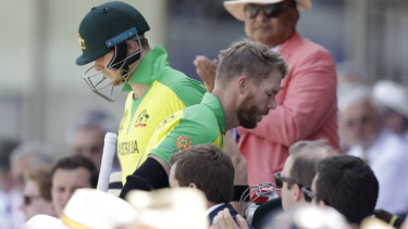 Steve Smith and David Warner at the World Cup.