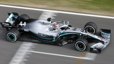 Focused: Lewis Hamilton says he is learning plenty about his Mercedes in testing.