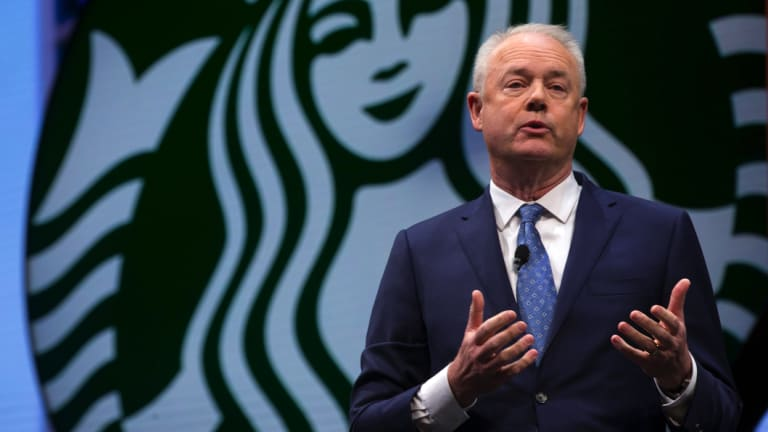 Starbucks CEO Kevin Johnson has offered to meet two black men who were arrested at a Philadelphia Starbucks store.