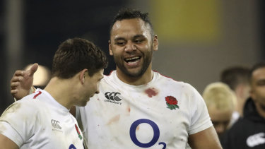 Sympathy: England's Billy Vunipola (right).