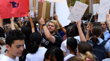 Students are being discouraged from bringing signs with swearing or targeted abuse to the movement's next protests.