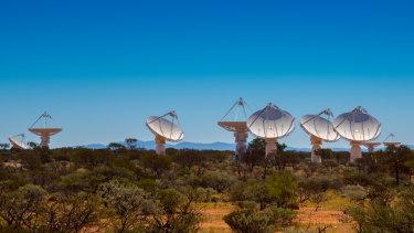 The Australian Square Kilometre Array Pathfinder in the Shire of Murchison in Western Australia.