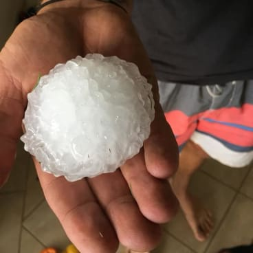'Cricket-ball sized' hail fell near Toowoomba on Boxing Day.