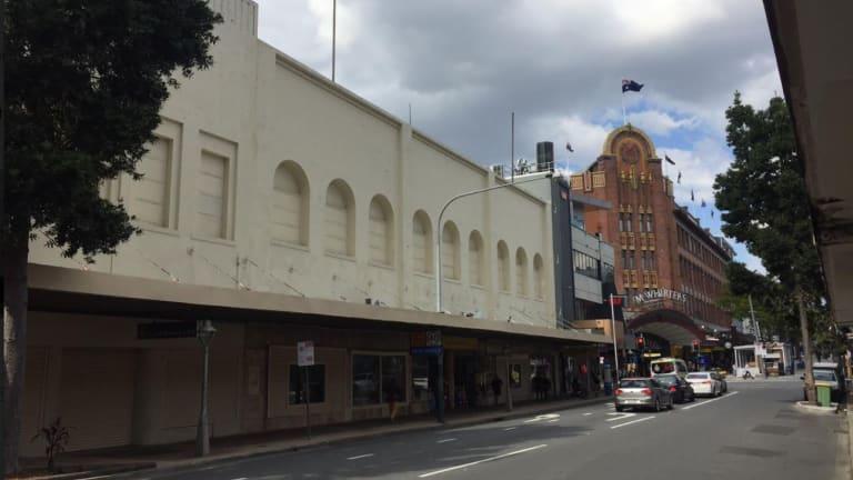 Walton's Brunswick Street frontage.