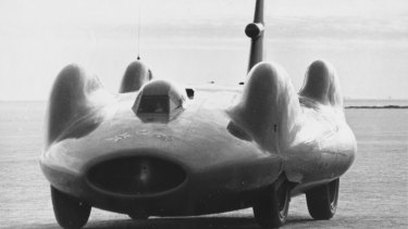 The Bluebird CN7 at Lake Eyre, 1963.