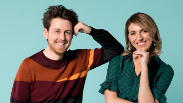 The hosts of The Cheap Seats - Tim McDonald and Melanie Bracewell.