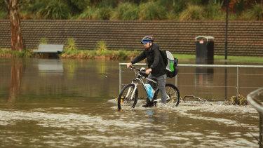 Parramatta received 40 millimetres of rain.