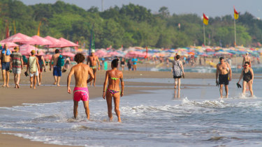 Kuta Beach in Bali, where police officers took Informer 3838.