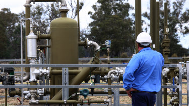 A Santos project near Narrabri ... ... the government insists gas is part of a greener energy solution.