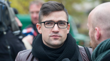 Martin Sellner, leader of the right-wing Identitarian Movement of Austria.
